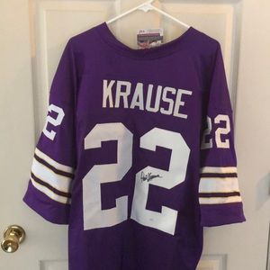 Other - Paul Krause Vikings Style Autographed Jersey